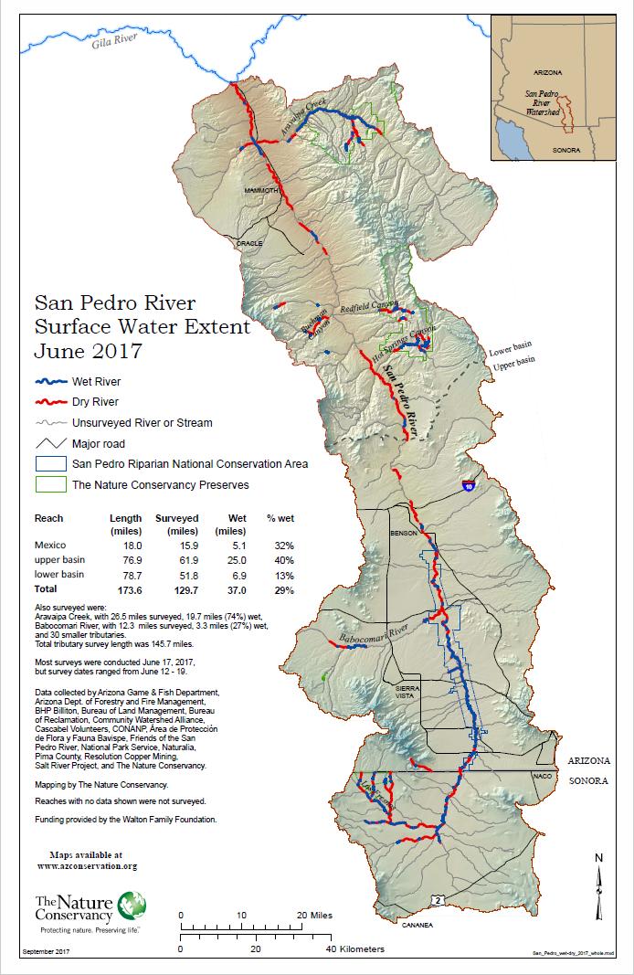 San Pedro River Wet-dry Maps